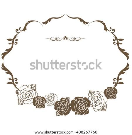 decorative frame set Vector  - stock vector