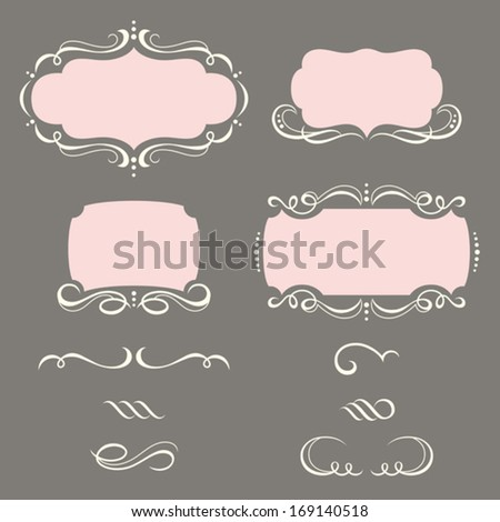 Decorative Frames and Ornaments. - stock vector