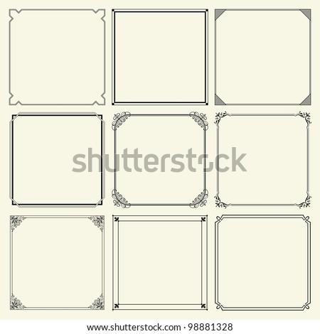 Decorative frames (set 11) - stock vector