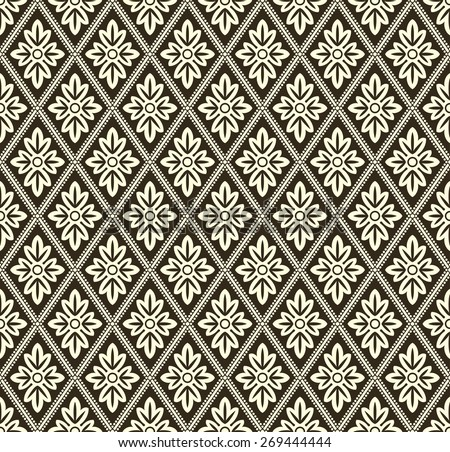 Decorative geometric pattern - stock vector