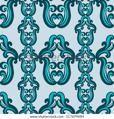 Decorative geometric pattern. Vintage. Baroque, Rococo. Seamless pattern can be used for textile, wallpaper, wrapping paper, web design. - stock vector