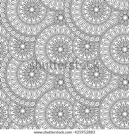 Decorative hand drawn nature ornamental ethnic vector background