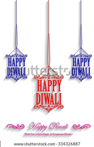 Decorative Happy Diwali Stylish Kandil Design