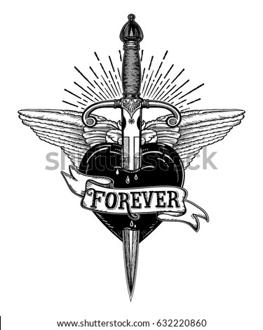 Heart stock images royalty free images vectors for Thin line tattoo artists near me