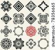 decorative icons, vector design elements for scrapbooking - stock vector