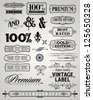 DECORATIVE LABEL ELEMENTS - stock vector