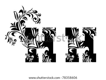 Decorative letter h your design stock vector 78358606 shutterstock decorative letter h for your design altavistaventures Choice Image