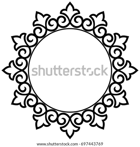 decorative line art frames design template stock vector 2018 rh shutterstock com lace vectors lace vector art