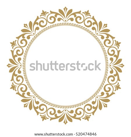 decorative line art frames design template stock vector