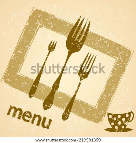 Decorative Menu card. - stock vector