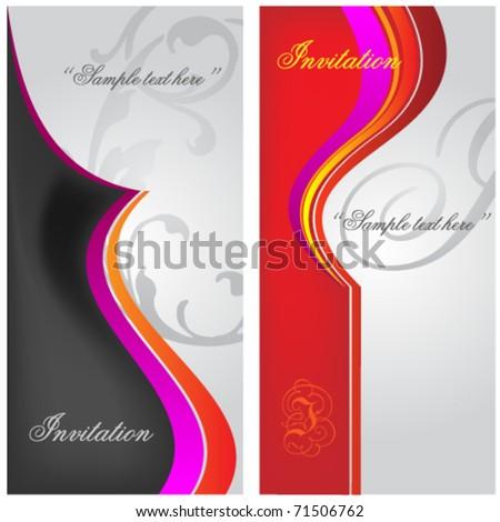 decorative modern invitation - stock vector