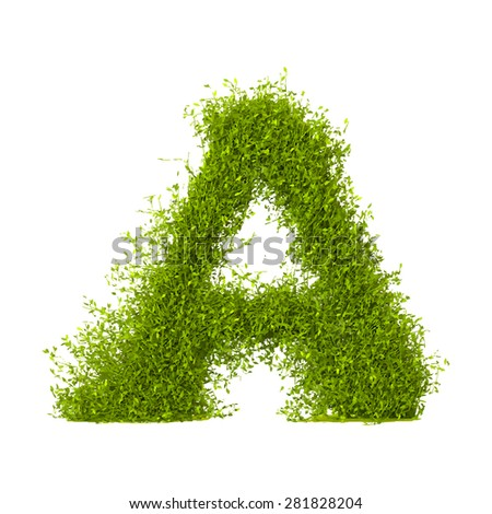 Decorative nature vector letter A - stock vector