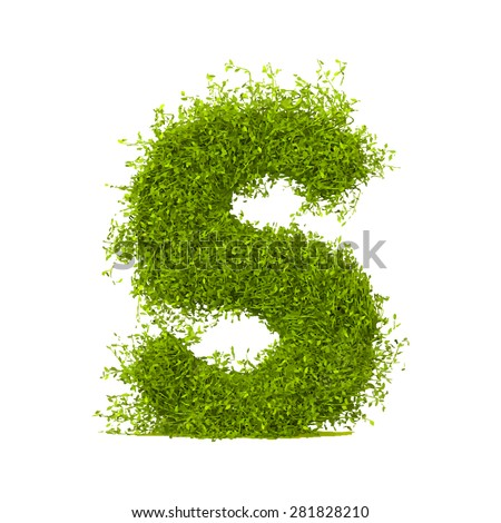 Decorative nature vector letter S - stock vector