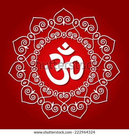 Decorative Om Design - stock vector