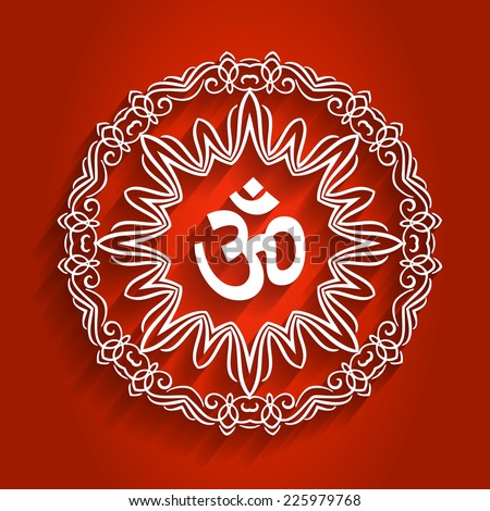 Decorative Om Design with Shadows - stock vector