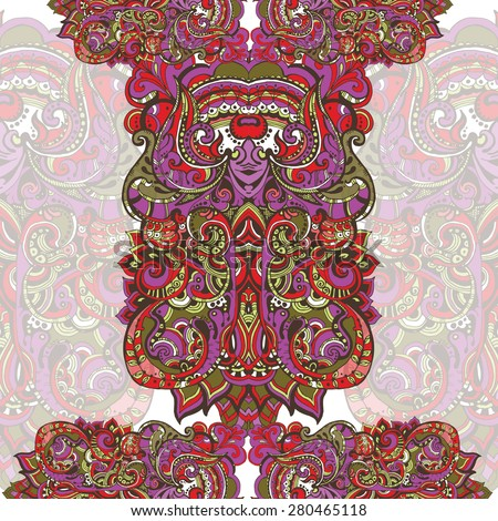 Decorative original. Original vintage frame template, background design. Hand drawn frame with colorful doodling elements - stock vector