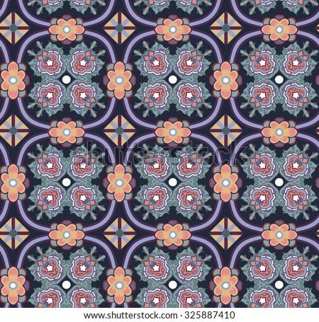 Decorative ornament seamless paisley pattern - stock vector
