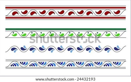 decorative ornamental stripes - stock vector