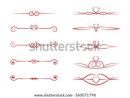 Decorative ornaments, strokes editable, vector eps10 - stock vector