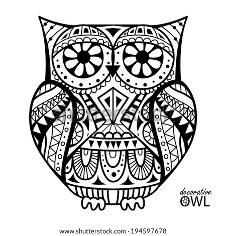 aztec owl coloring pages - photo#1
