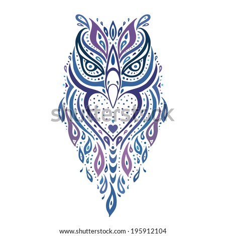 Tribal animal stock photos images pictures shutterstock for Tribal owl tattoo