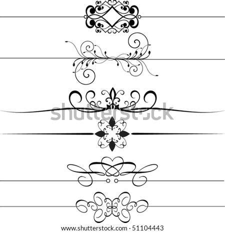 Decorative page rules - stock vector
