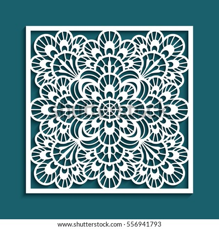 Decorative panel lace pattern elegant square stock vector 556941793 decorative panel with lace pattern elegant square ornament for laser cutting or wood carving stopboris Images