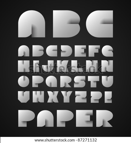 Decorative Paper Alphabet - stock vector
