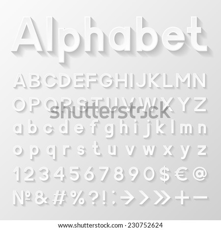 Decorative paper alphabet. Vector illustration  - stock vector