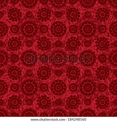 Decorative red vector seamless pattern background
