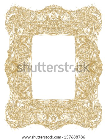 Decorative Renaissance Frame Generated Hand Painted Stock Vector HD ...