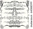Decorative Retro borders and frame design element collection - vector illustration - stock vector