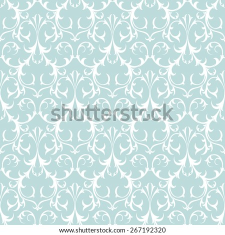 Decorative Seamless Background Pattern. Damask Antique Wallpaper. - stock vector