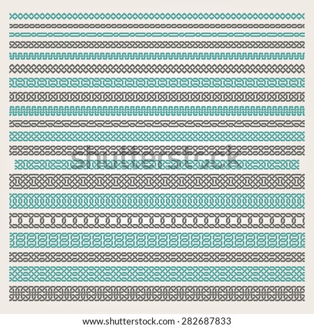 Decorative seamless islamic ornamental border