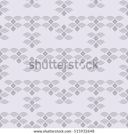Decorative seamless pattern.Asian  geometric background.Chinese elements. Stylish trendy fabric.Vector Illustration.