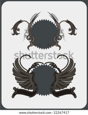 decorative shield - stock vector