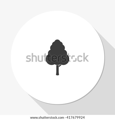 Decorative simple tree. - stock vector