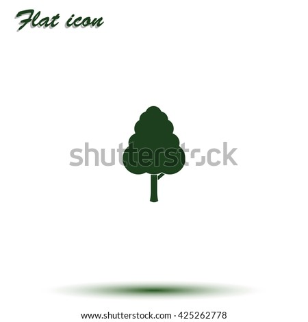 Decorative simple tree icon - stock vector