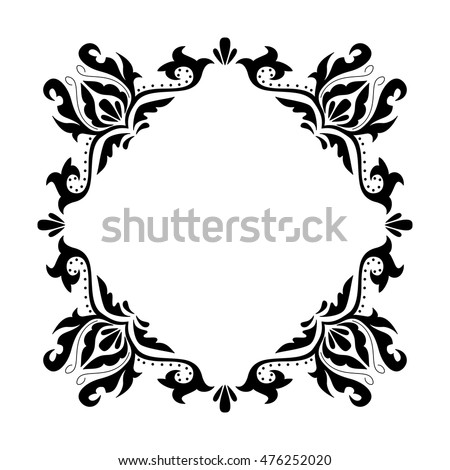 Decorative Square Frame Vintage Style Greeting Stock Vector HD ...