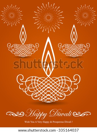 Decorative Stylish Diwali Lamp Design