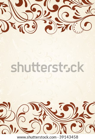 Decorative template for text, illustration - stock vector