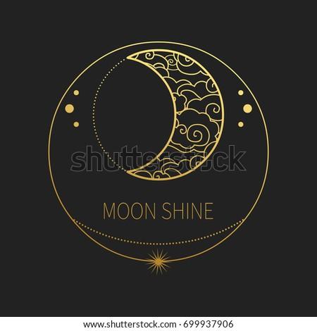 decorative template crescent moon vector design ベクター画像素材