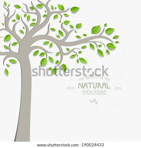Decorative tree with green leaves