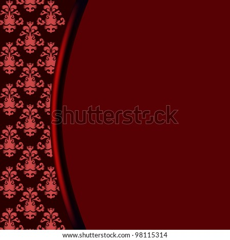 Decorative vector floral background