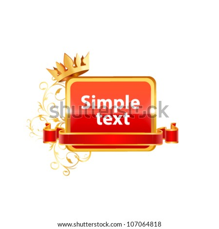Decorative vector frame.