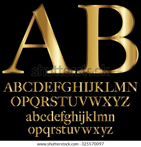 decorative vector gold letters