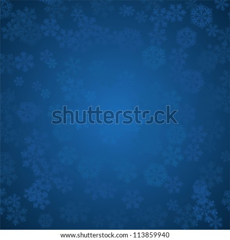 Decorative vector Merry Christmas background with snowflakes. - stock vector