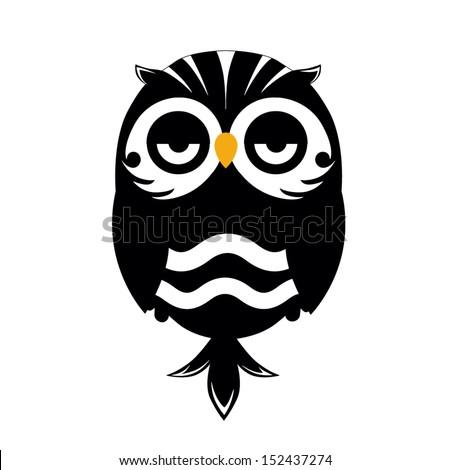 Decorative Vector Owl - stock vector