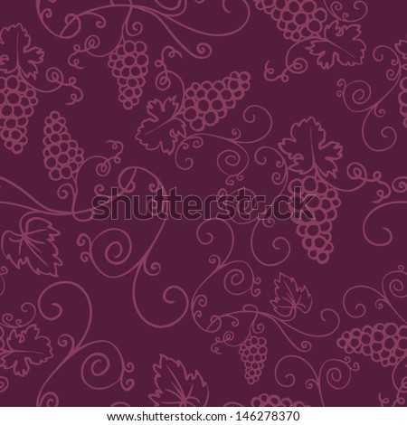 Decorative vine seamless vector pattern - stock vector