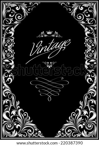 Decorative vintage blank - stock vector